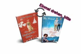 Weihnachtstaschenbuch (Flip Book: Weihnachtswelpe & Wunder mit Baum)
